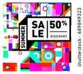 summer sale colorful style... | Shutterstock .eps vector #689849323
