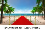 exclusive red carpet on the... | Shutterstock . vector #689849857