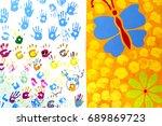 Colorful Children Hand Print O...