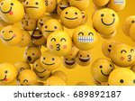 emoji emoticon character... | Shutterstock . vector #689892187