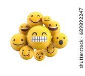 emoji emoticon character... | Shutterstock . vector #689892247