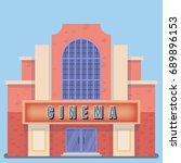 movie theater building with a... | Shutterstock .eps vector #689896153