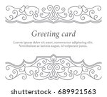 elegant vintage greeting card... | Shutterstock .eps vector #689921563