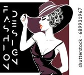 fashion advertisement with... | Shutterstock .eps vector #689931967