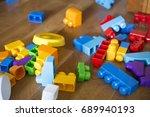 background from plastic designer | Shutterstock . vector #689940193
