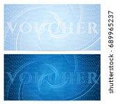 voucher  gift certificate ...   Shutterstock .eps vector #689965237