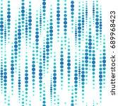 rain drops pattern on dots... | Shutterstock .eps vector #689968423