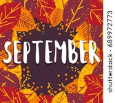 september. colorful... | Shutterstock .eps vector #689972773