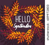 september. colorful... | Shutterstock .eps vector #689972803