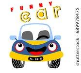 funny car vector cartoon | Shutterstock .eps vector #689978473