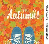 autumn banner with the... | Shutterstock .eps vector #689985907