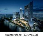 3d business buildings | Shutterstock . vector #68998768