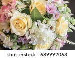 flower decor | Shutterstock . vector #689992063