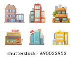 flat design of retro and modern ... | Shutterstock . vector #690023953