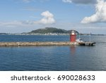 lighthouse at alesund in norway | Shutterstock . vector #690028633