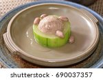 towel gourd with meat