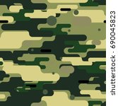 camouflage seamless pattern.... | Shutterstock .eps vector #690045823