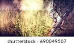 empty path passing through... | Shutterstock . vector #690049507