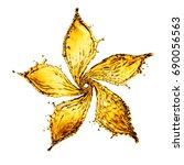 flower made of water splash of... | Shutterstock . vector #690056563