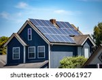 solar panels installed and in... | Shutterstock . vector #690061927