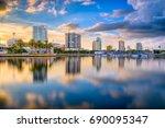 st. petersburg  florida  usa... | Shutterstock . vector #690095347