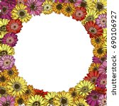 Floral Frame Of Colorful...