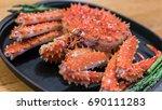alaska crab  | Shutterstock . vector #690111283