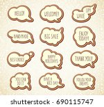 collection of templates speech... | Shutterstock .eps vector #690115747