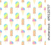 seamless pattern. colorful ice... | Shutterstock .eps vector #690120757