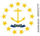 round rhode island state flag... | Shutterstock .eps vector #690151777