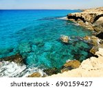 rocky coast in the... | Shutterstock . vector #690159427