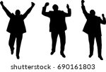 silhouette celebrating... | Shutterstock .eps vector #690161803