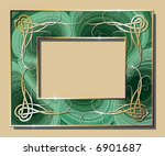 malachite border with golden... | Shutterstock .eps vector #6901687