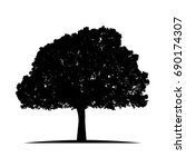 tree silhouette isolated on... | Shutterstock .eps vector #690174307