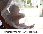 image of  stroller that covered ... | Shutterstock . vector #690180937