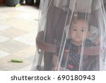 image of  stroller that covered ... | Shutterstock . vector #690180943