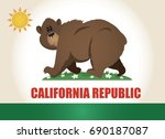 comic california flag cartoon... | Shutterstock .eps vector #690187087