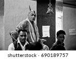 rishikesh. india. april 12 ... | Shutterstock . vector #690189757