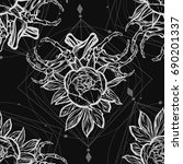 vector illustration. halloween. ...   Shutterstock .eps vector #690201337
