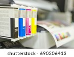 large printer format inkjet... | Shutterstock . vector #690206413