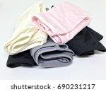 pile of woman underwear   Shutterstock . vector #690231217