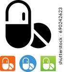 drugs icon | Shutterstock .eps vector #690242623