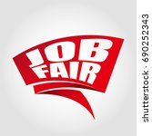 job fair label banner | Shutterstock .eps vector #690252343