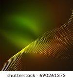 vector wave particles... | Shutterstock .eps vector #690261373