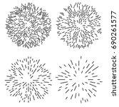 starburst or sunburst abstract... | Shutterstock . vector #690261577