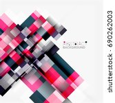 abstract vector blocks template ... | Shutterstock .eps vector #690262003