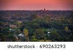 beautiful aerial view of angkor ... | Shutterstock . vector #690263293