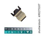 camera lens icon | Shutterstock .eps vector #690275107