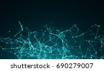 abstract connected dots on... | Shutterstock . vector #690279007