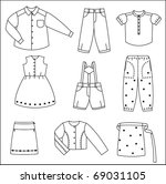 silhouette clothes | Shutterstock .eps vector #69031105